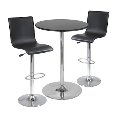 Surprising Spectrum Black Metal Dining Set With Round Bar Table Uwap Interior Chair Design Uwaporg