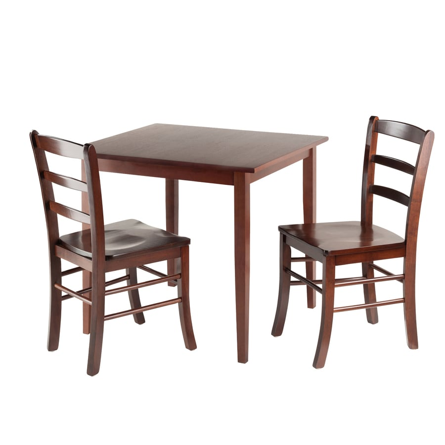 Winsome Wood Groveland Antique Walnut Dining Set With Table At Lowes Com