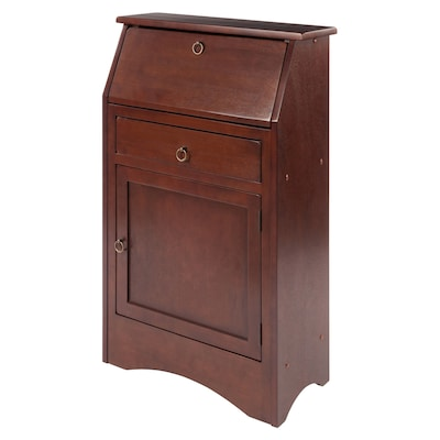 Phenomenal Winsome Wood Regalia Traditional Walnut Secretary Desk At Home Interior And Landscaping Synyenasavecom