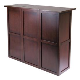Winsome Wood Newport 50 In X 40 16 Beechwood Brown Rectangle Cabinet Bar