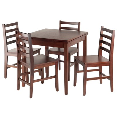 Pulman Walnut Dining Set With Square Table