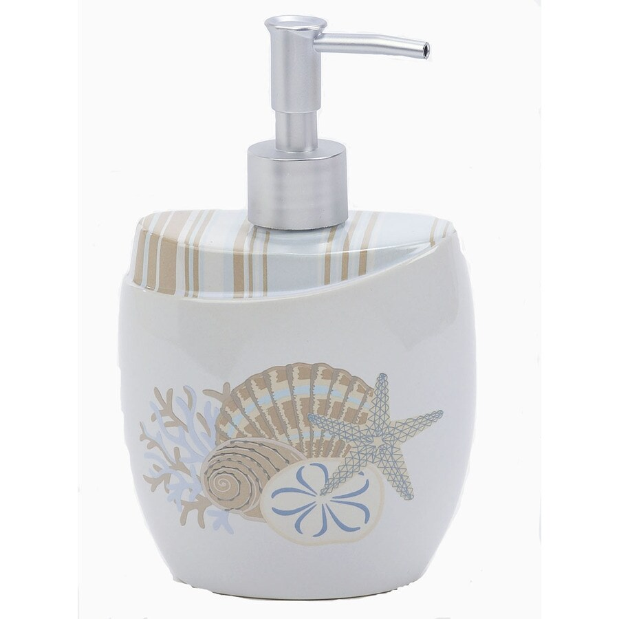 Avanti By The Sea White Soap and Lotion Dispenser