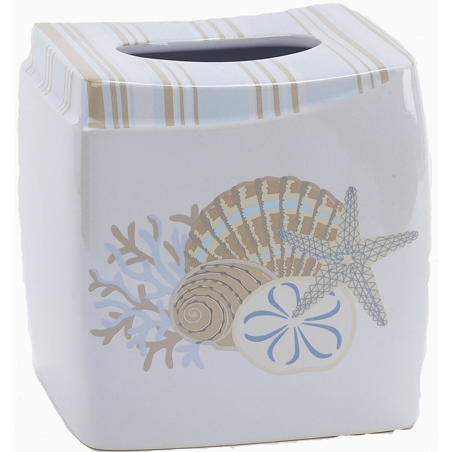 Avanti By The Sea White Ceramic Tissue Holder