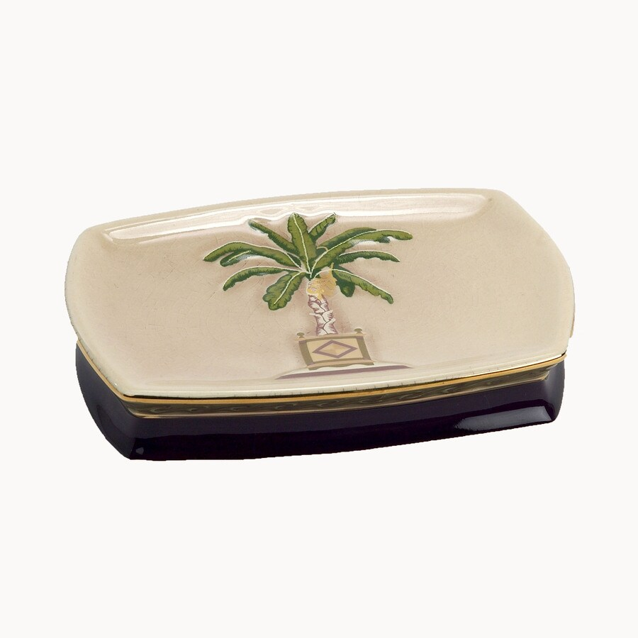Avanti Banana Palm Linen Ceramic Soap Dish