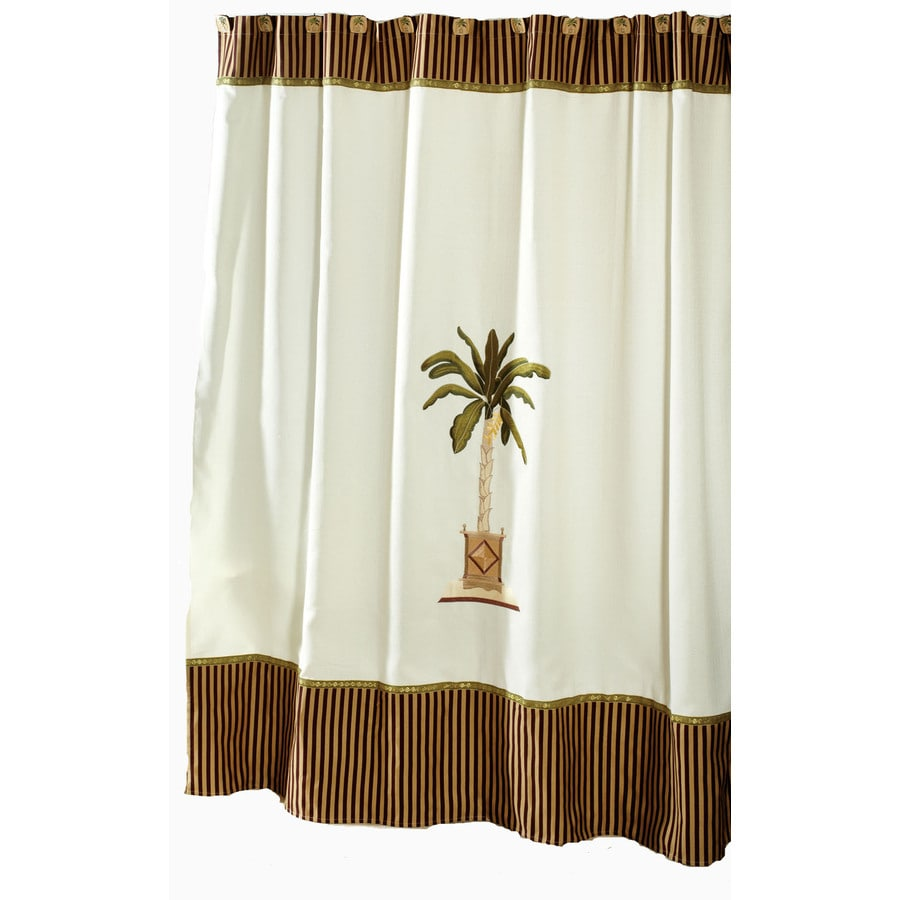 Avanti Banana Palm Polyester Banana Palm Floral Shower Curtain