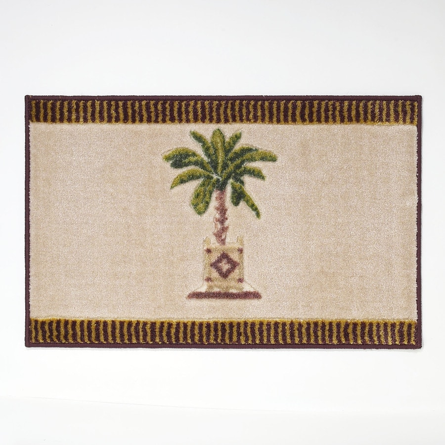 shop avanti banana palm 20-in x 30-in linen nylon bath rug at