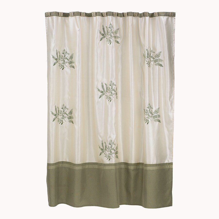 Avanti Greenwood Polyester Fern Pattern Floral Shower Curtain