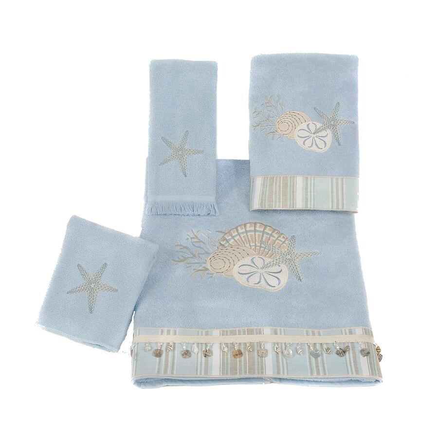 Avanti Blue Fog Cotton Bath Towel Set