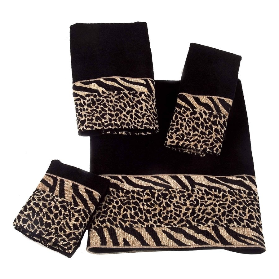 Shop Avanti Black Cotton Bath Towel Set At