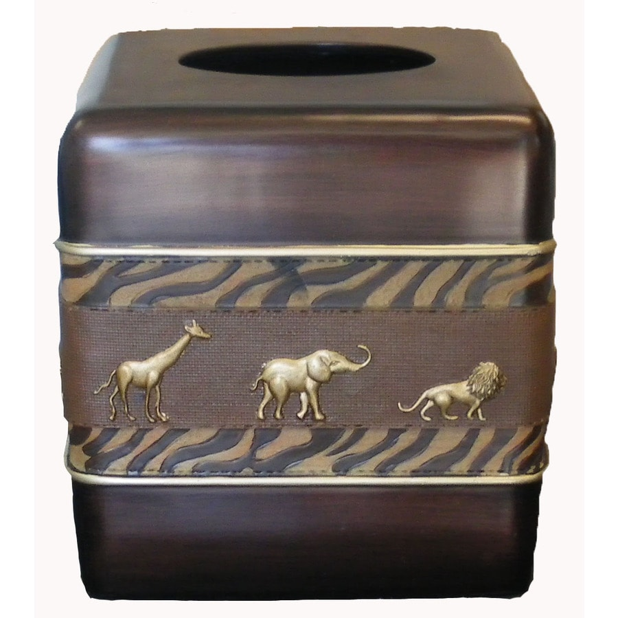 Avanti Animal Parade Brown Resin Tissue Holder