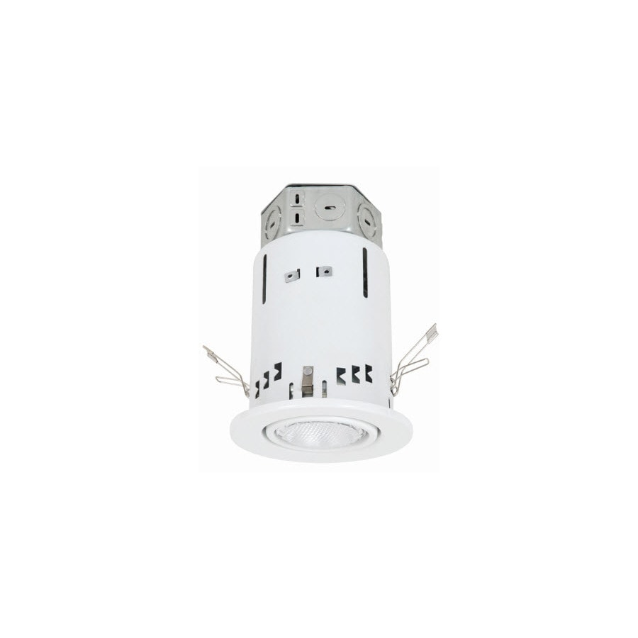 Utilitech 4 In White Integrated Led Remodel Recessed Light: Utilitech White 4-in Remodel Recessed Lighting Kit At