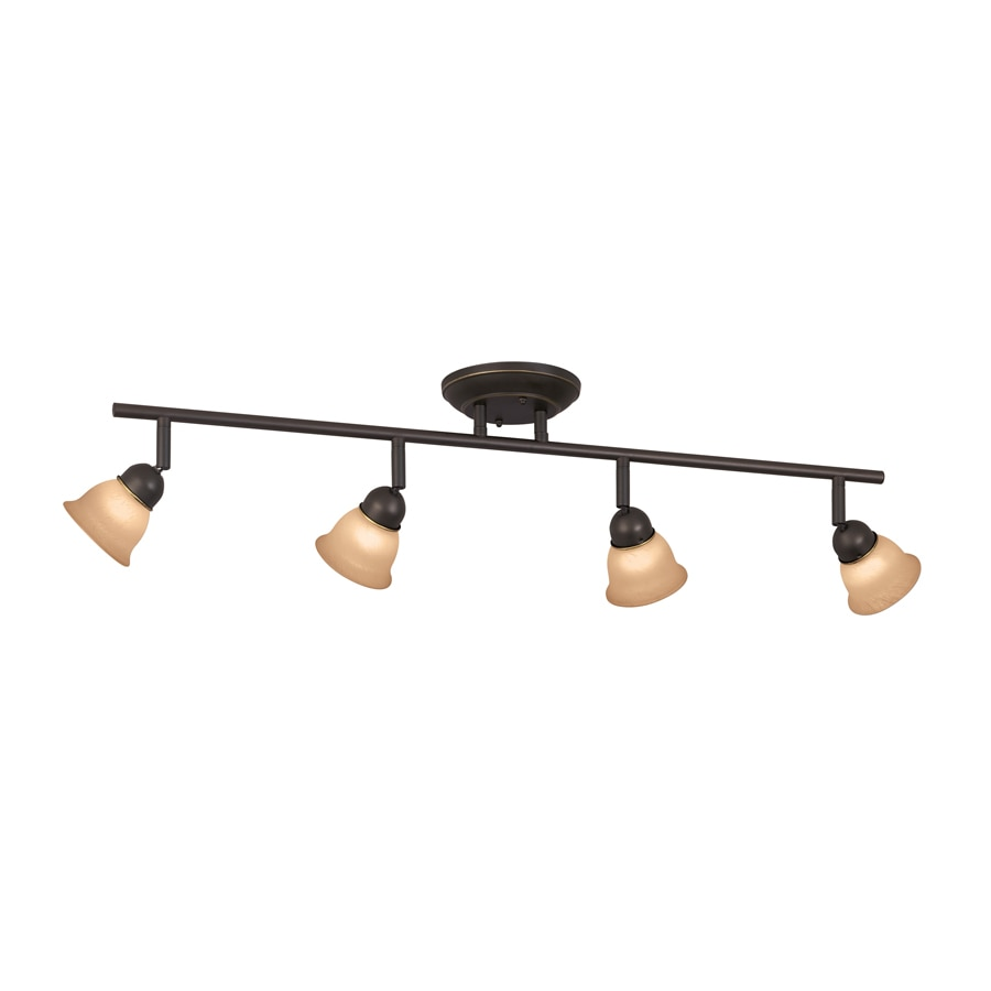 Portfolio Villa 4-Light 29.5-in Aged Bronze Dimmable Fixed Track Light Kit