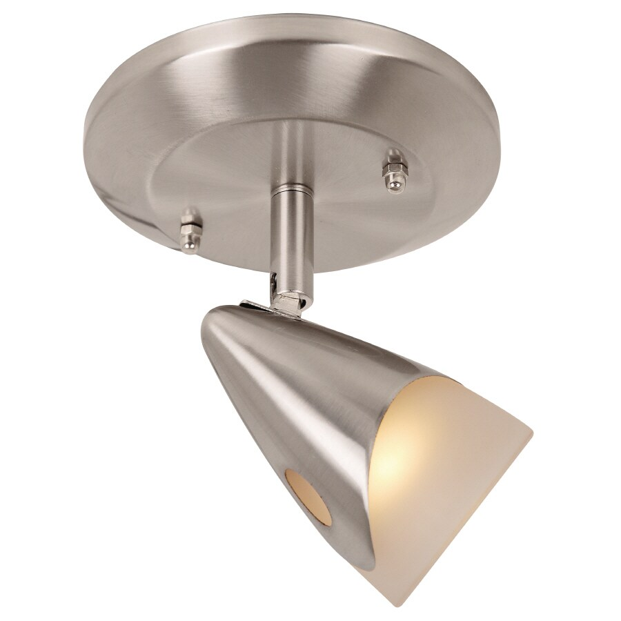 Portfolio Aria 1-Light 5-in Brushed Steel Dimmable Flush-Mount Fixed Track Light Kit