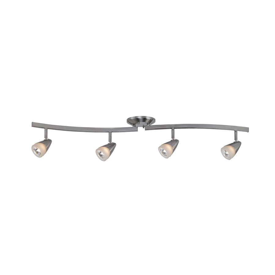 Shop portfolio aria 4 light 372 in brushed steel dimmable fixed portfolio aria 4 light 372 in brushed steel dimmable fixed track light kit mozeypictures Images
