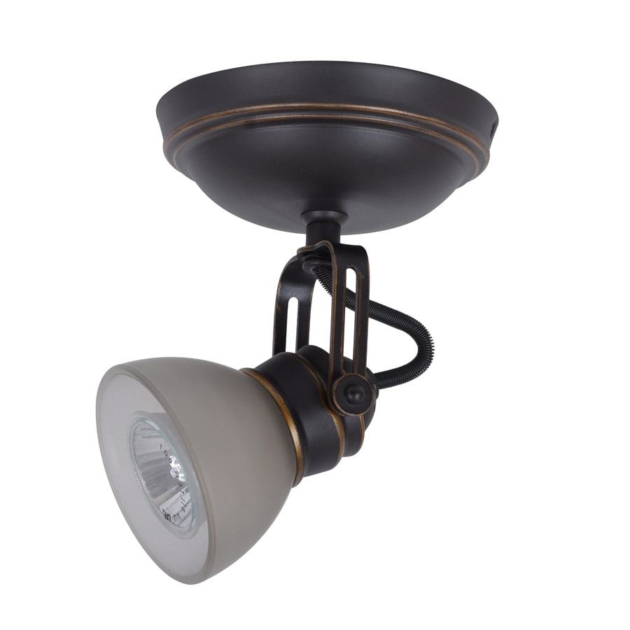 allen + roth Tucana 1-Light 5.6-in Oil Rubbed Bronze Dimmable Flush-Mount Fixed Track Light Kit