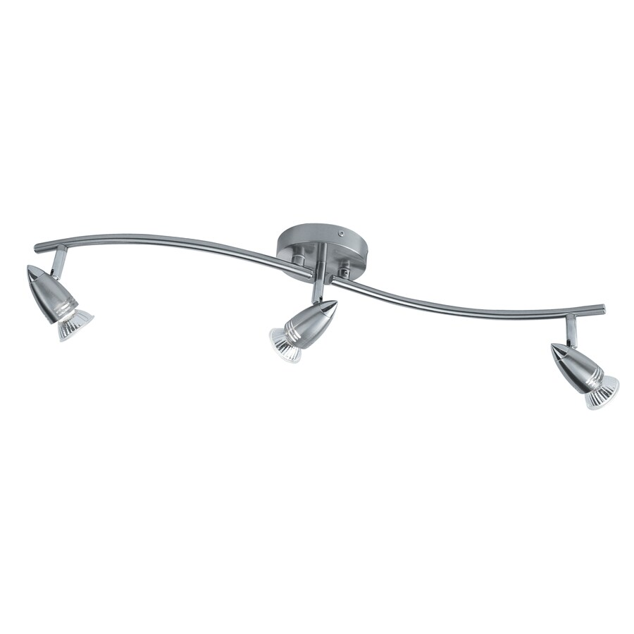 Style Selections 3-Light 28-in Brushed Steel Dimmable Fixed Track Light Kit