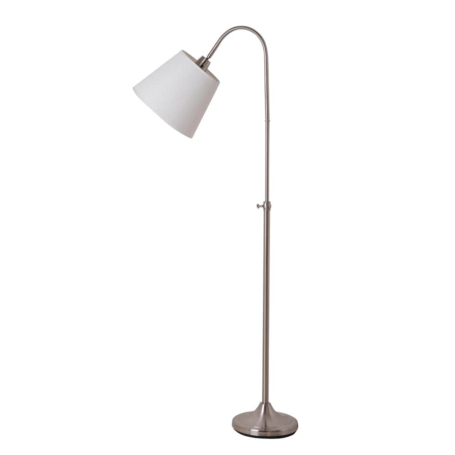 Catalina 62.01-in Brushed Nickel Indoor Floor Lamp with Fabric Shade