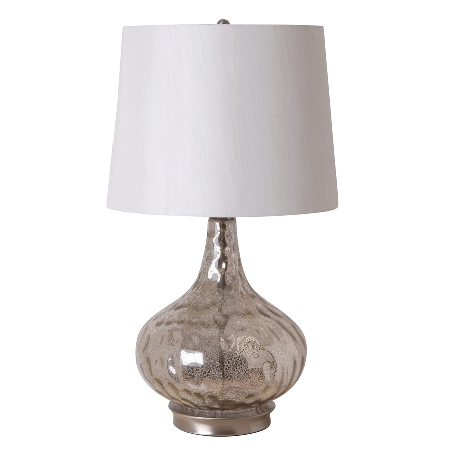 Catalina 25.5-in 3-Way Silver Indoor Table Lamp with Fabric Shade