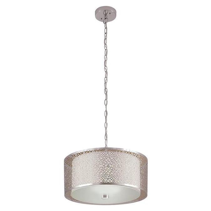 Portfolio Eyerly Chrome Modern/Contemporary Drum Pendant Light