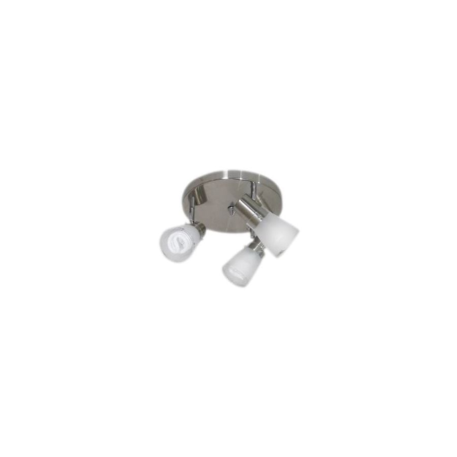 Portfolio 3-Light 10-in Brushed Steel Flush Mount Fixed Track Light Kit