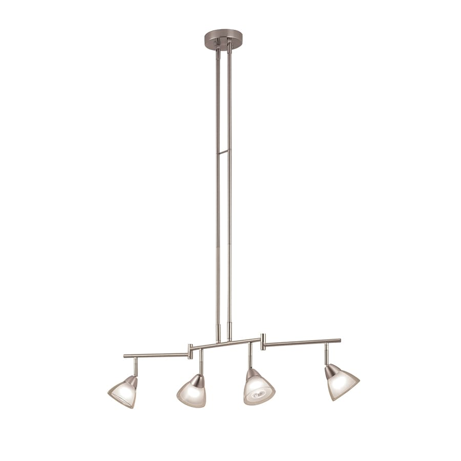 Portfolio 4-Light 35.63-in Brushed Nickel Fixed Track Light Kit