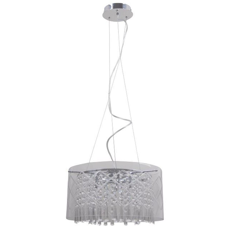 drum lighting lowes. style selections royalston 15.7-in chrome crystal single drum pendant lighting lowes i
