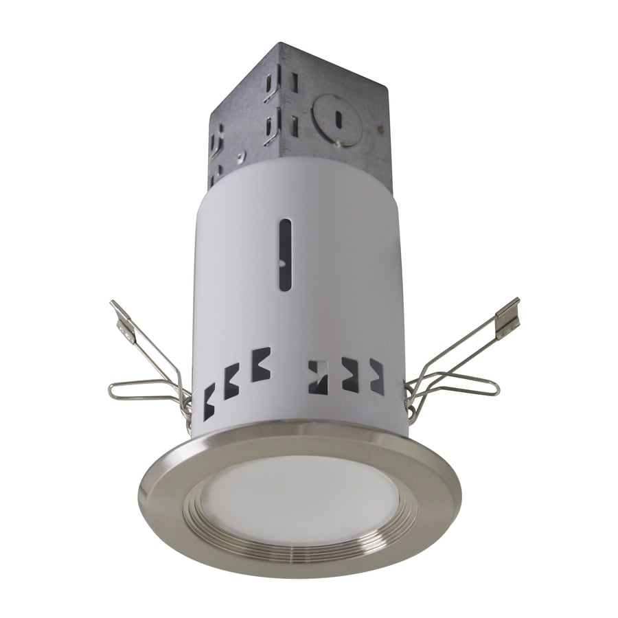 shop utilitech pro brushed nickel integrated remodel recessed light