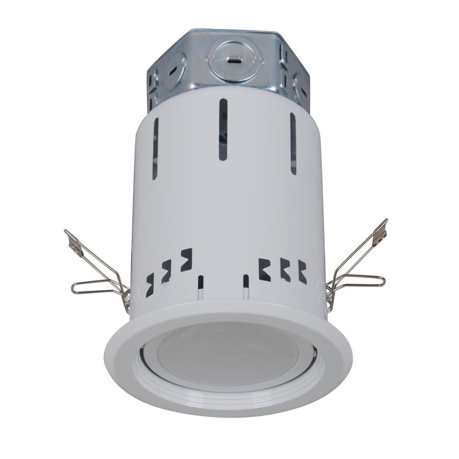 shop catalina white 4 in led remodel recessed lighting kit at lowes com