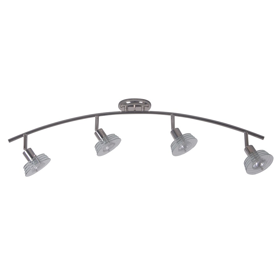 Portfolio 4-Light 35.43-in Polished Nickel Fixed Track Light Kit
