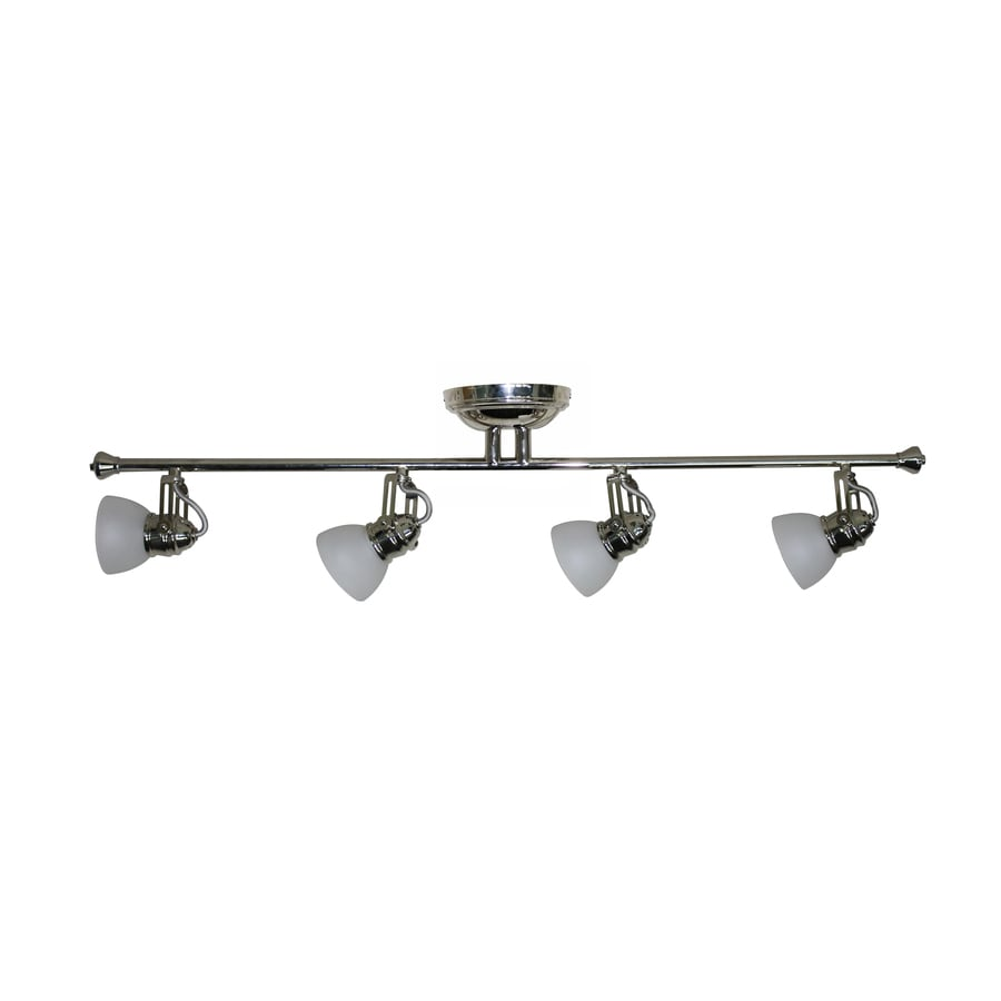 allen + roth 4-Light 34.84-in Polished Nickel Fixed Track Light Kit