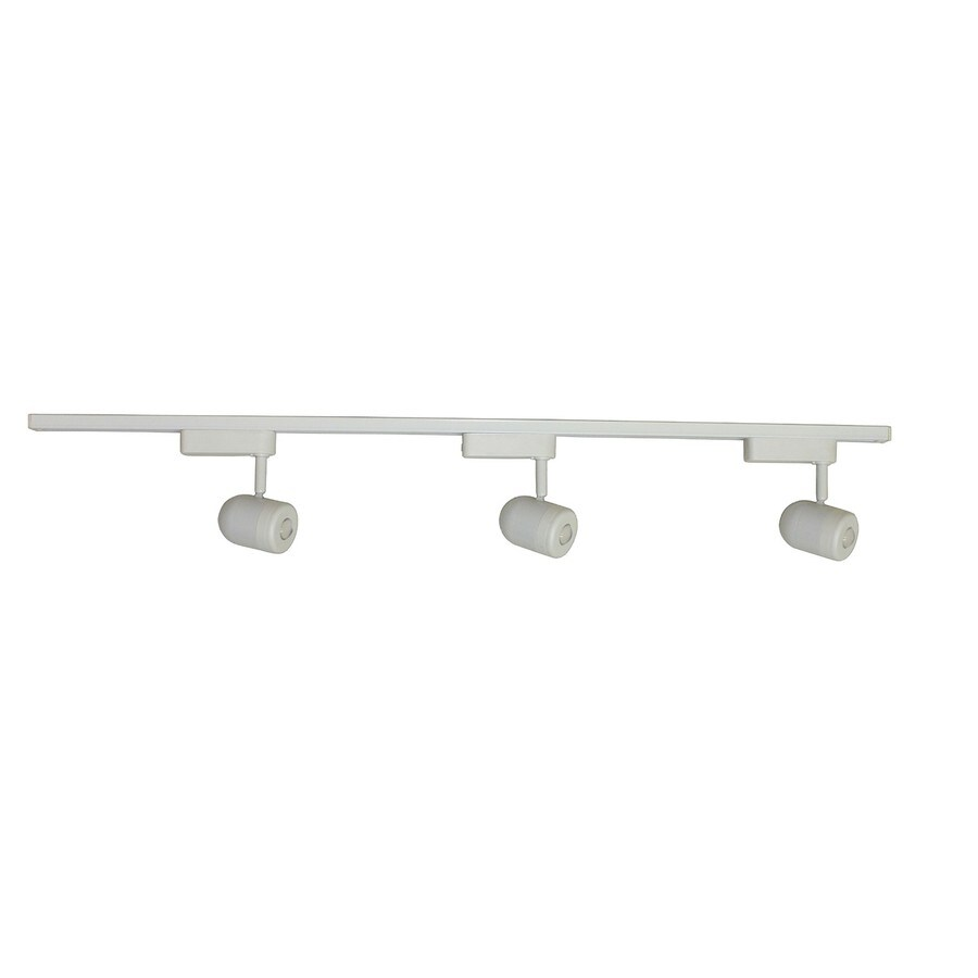 Shop portfolio 3 light 425 in white led roundback linear track portfolio 3 light 425 in white led roundback linear track lighting kit mozeypictures Images