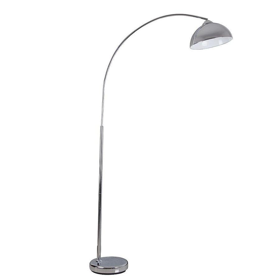 Shop catalina 742 in chrome foot switch arc floor lamp with metal catalina 742 in chrome foot switch arc floor lamp with metal shade aloadofball Choice Image