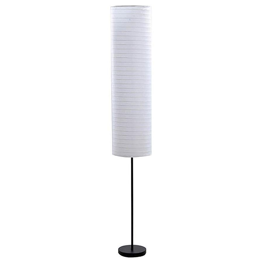 Shop catalina zen 70 in black foot switch stick floor lamp with catalina zen 70 in black foot switch stick floor lamp with paper shade aloadofball Choice Image