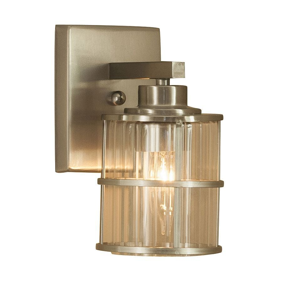 Shop Allen Roth Kenross 1 Light Brushed Nickel Cage Vanity Light At