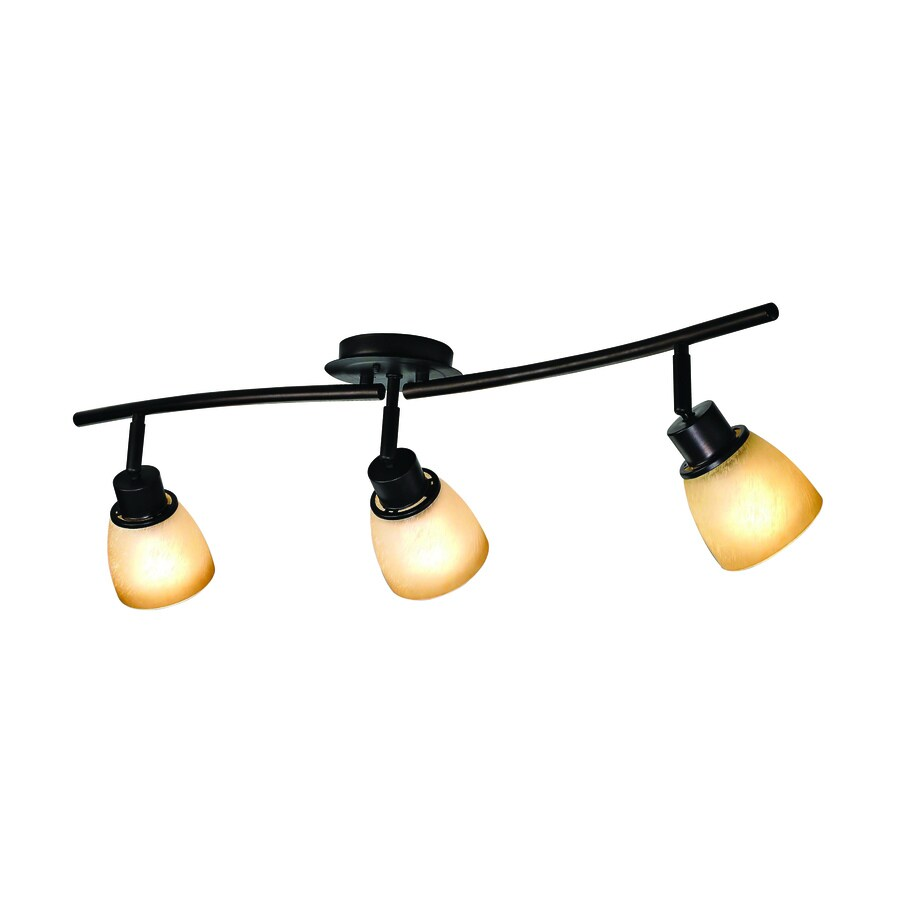 allen + roth 3-Light 33.5-in Aged Bronze Dimmable Fixed Track Light Kit