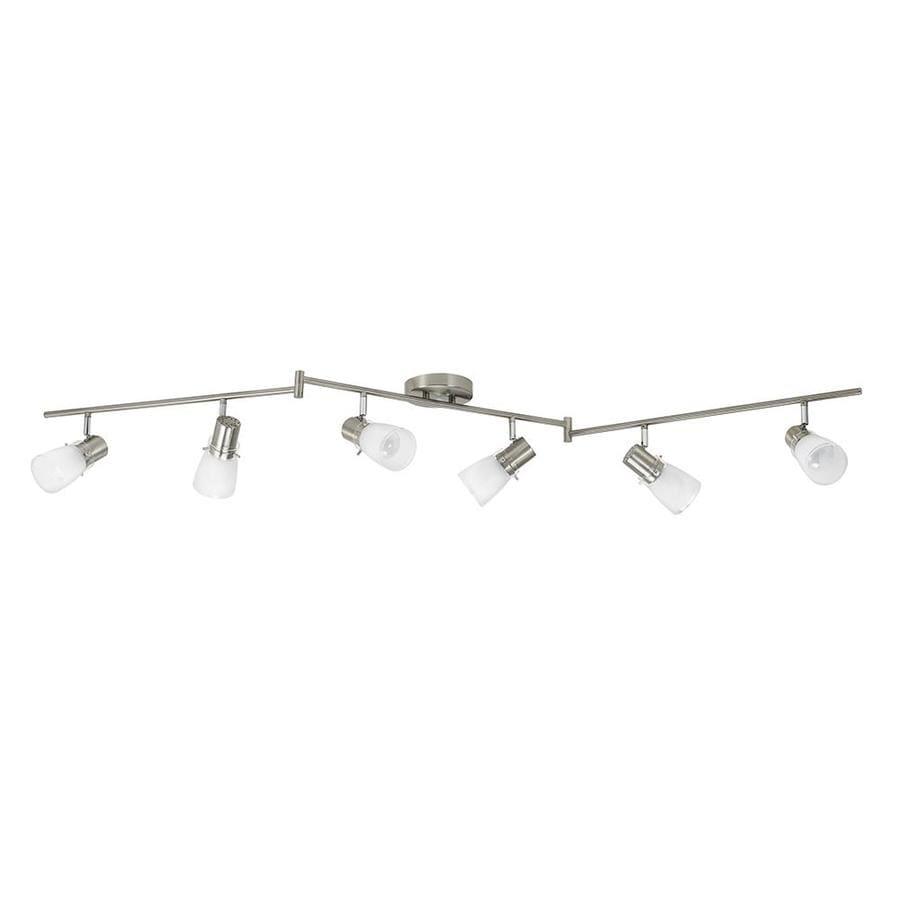 Portfolio Montgomery 6 Light 69 In Brushed Steel Dimmable Track Bar Fixed