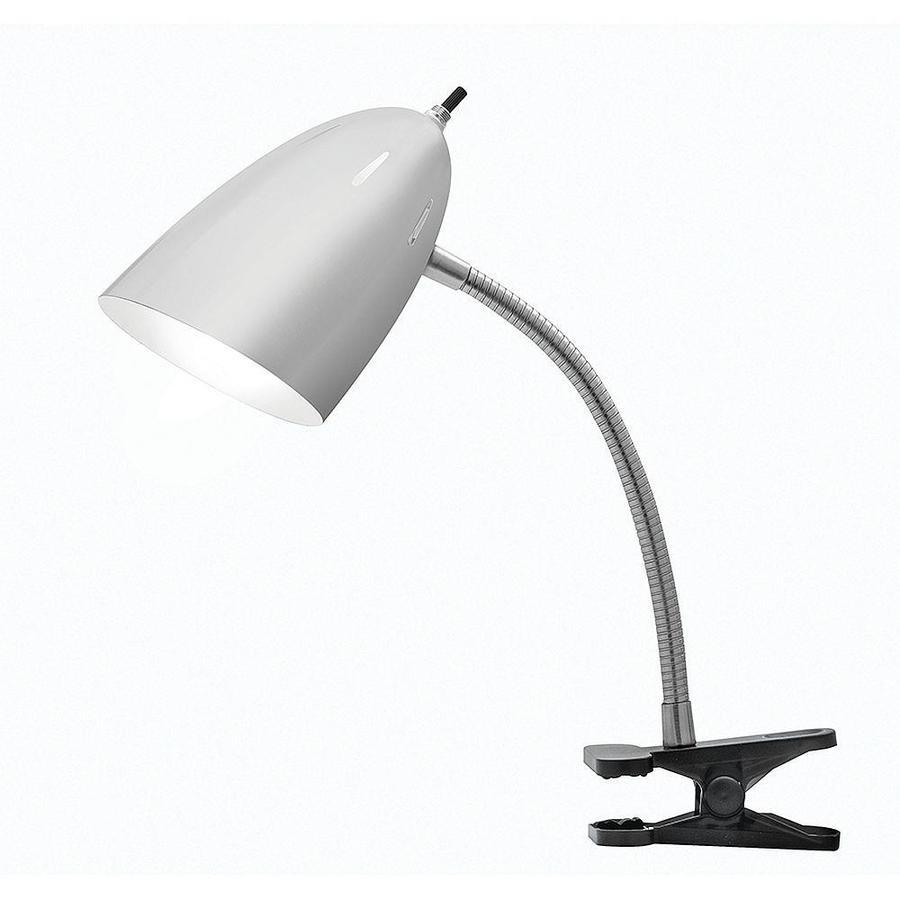 Tensor 19 In Adjule Brushed Steel Clip Desk Lamp With Metal Shade