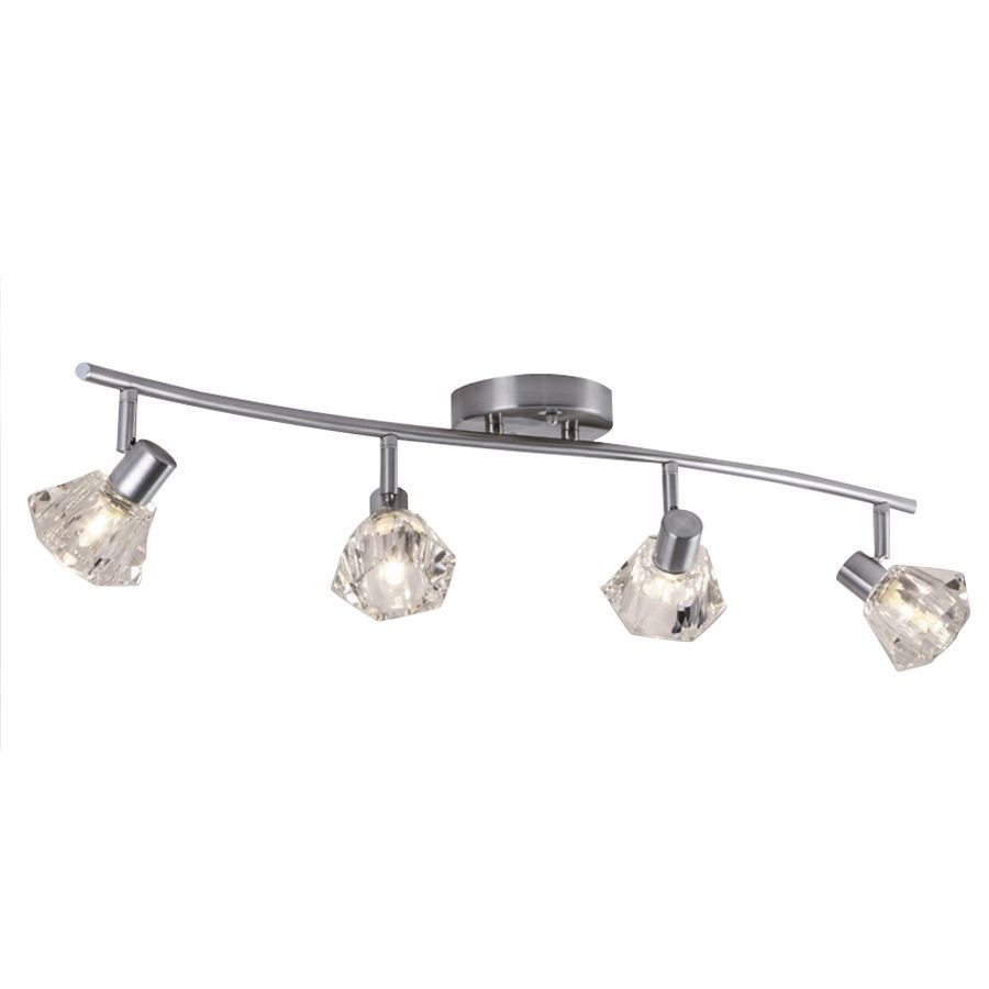 Portfolio 4-Light 29.92-in Brushed Nickel Dimmable Fixed Track Light Kit