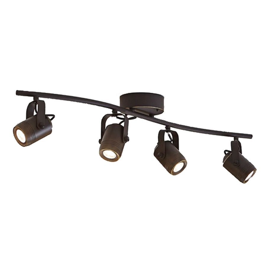 allen + roth Tyslow 4-Light 31.2-in Bronze Dimmable Integrated Fixed Track Light Kit