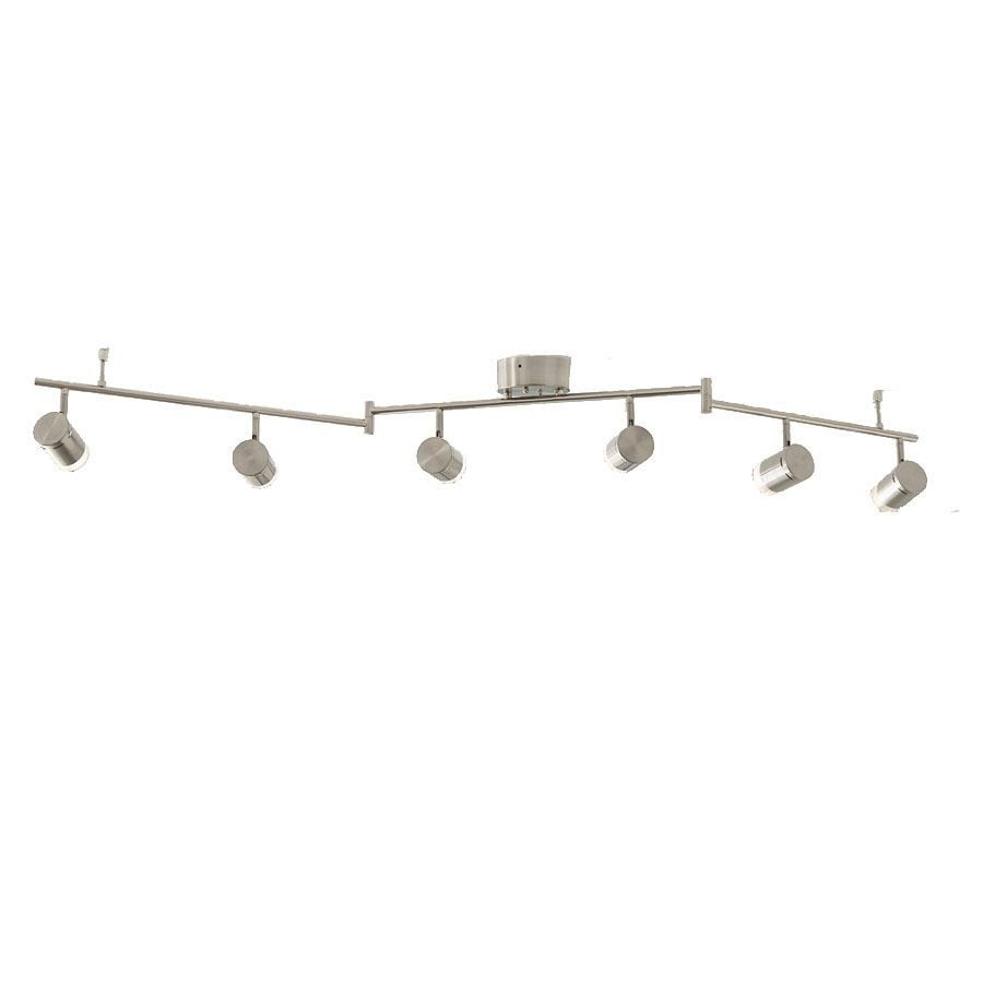 Style Selections Leyden 6 Light 47 75 In Brushed Nickel Dimmable Led Track Bar