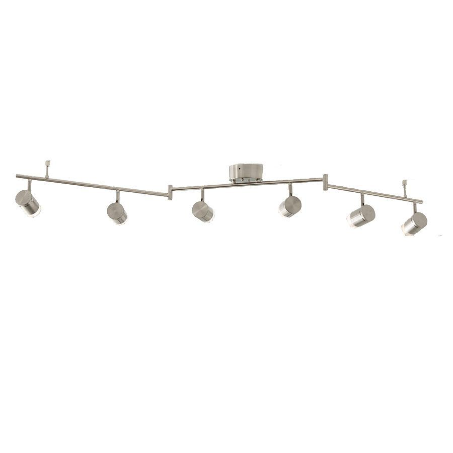 brushed nickel dimmable led track bar light kit fixed track light kit