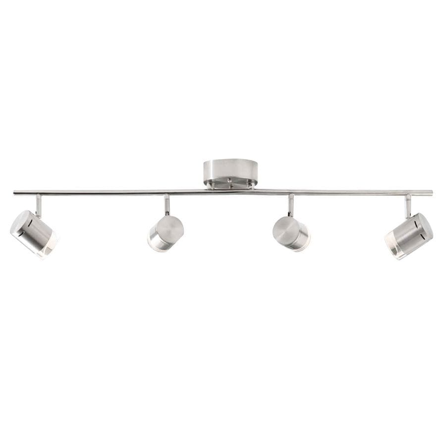 Style Selections Leyden 4 Light 29 76 In Brushed Nickel Dimmable Led Track Bar