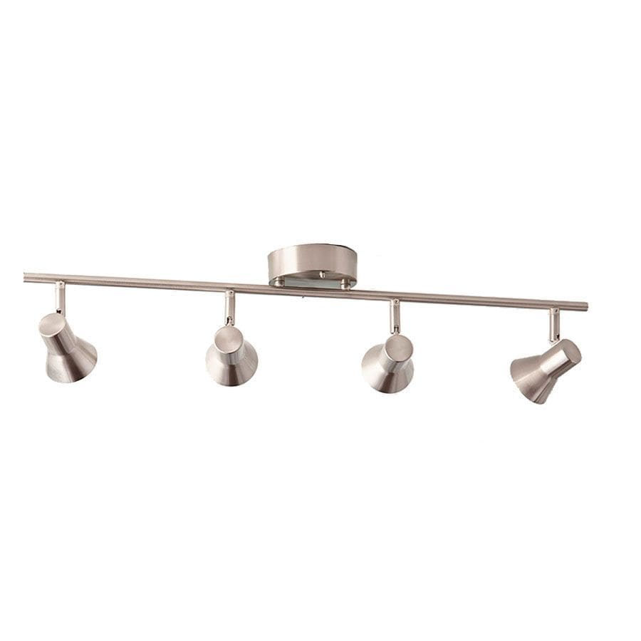 Style Selections Seekott 4-Light 29.72-in Brushed Nickel Dimmable Integrated Fixed Track Light Kit
