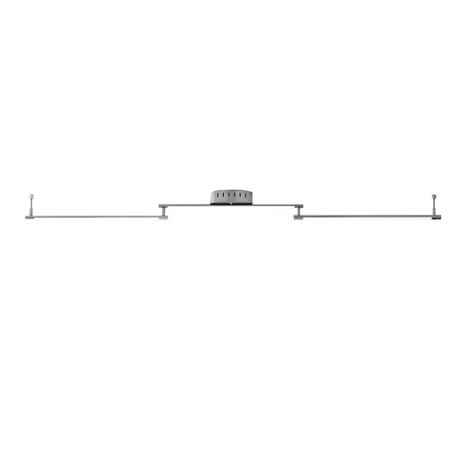 Style Selections Henniker 3-Light 64.21-in Brushed Nickel Dimmable LED Track Bar Light Kit Fixed Track Light Kit
