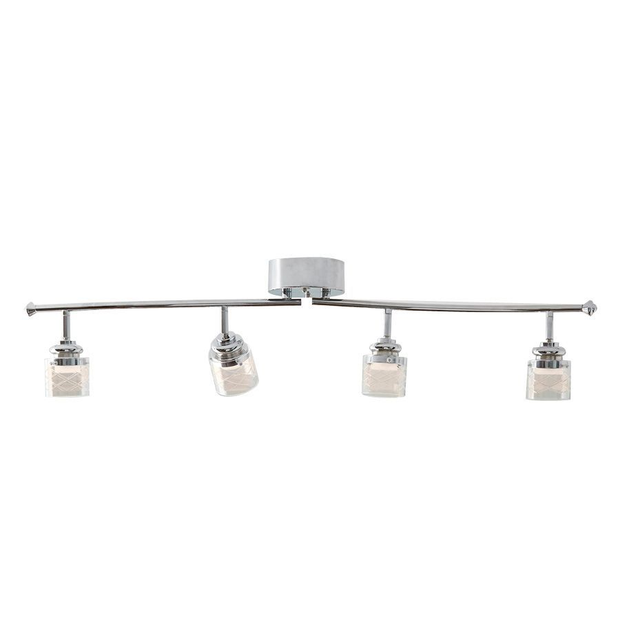 Style Selections Royalston 4-Light 29.92-in Chrome Dimmable LED Fixed Track Light Kit