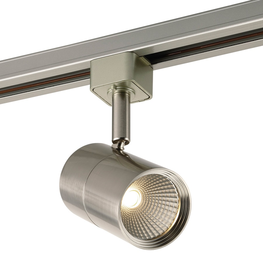 Project Source 1-Light Dimmable Brushed nickel Flat Back Linear Integrated LED Track Lighting Head