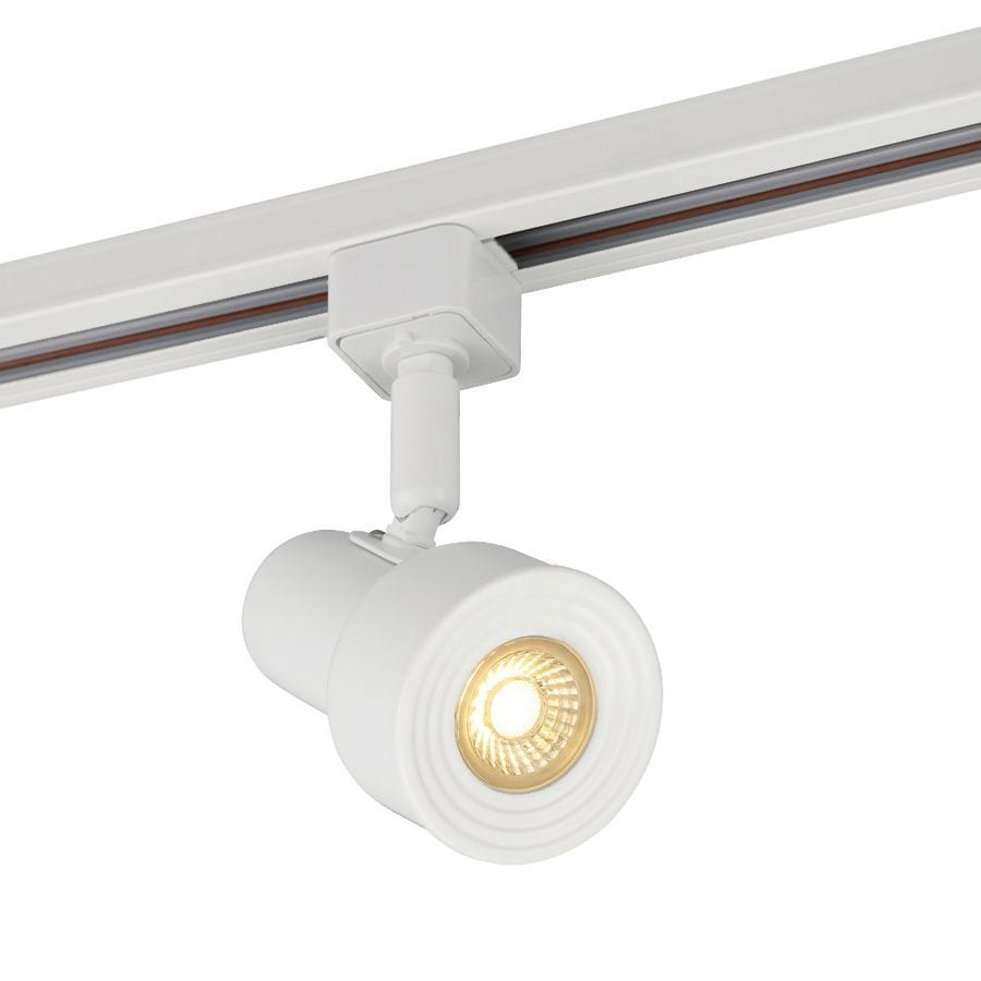 Project Source 1 Light Dimmable Matte White Step Linear Integrated Led Track Lighting Head