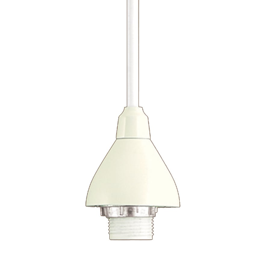 Project Source 1-Light Dimmable Matte White Bell Linear Track Lighting  Pendants