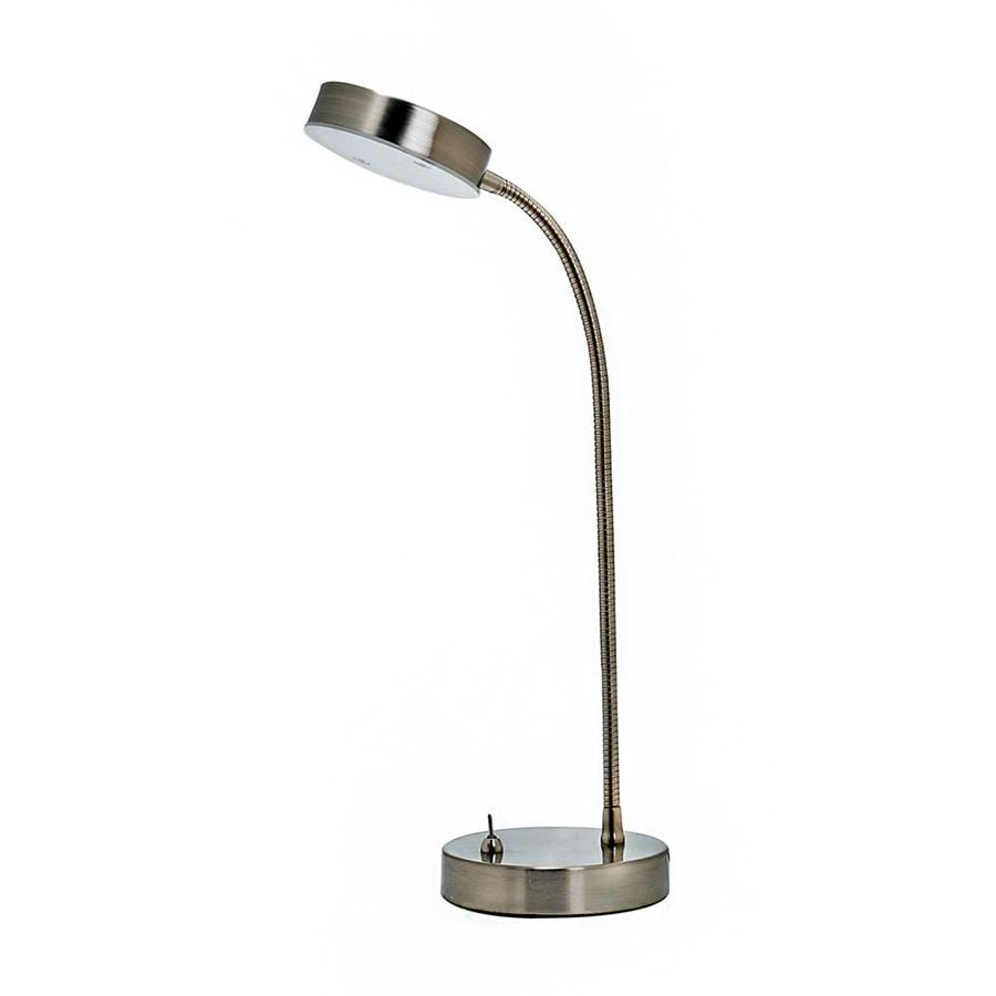 Style Selections 13.25-in Adjustable Stainless Steel LED Desk Lamp with Metal Shade