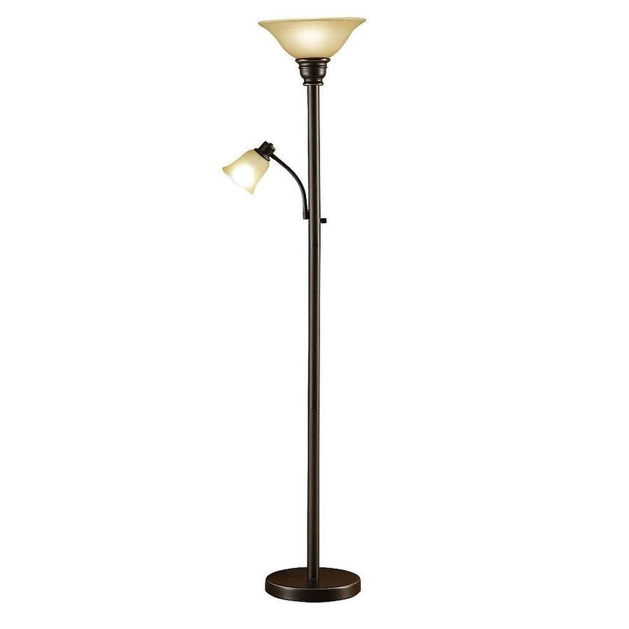 Shop Catalina 71 In Oil Rubbed Bronze 3 Way Torchiere With